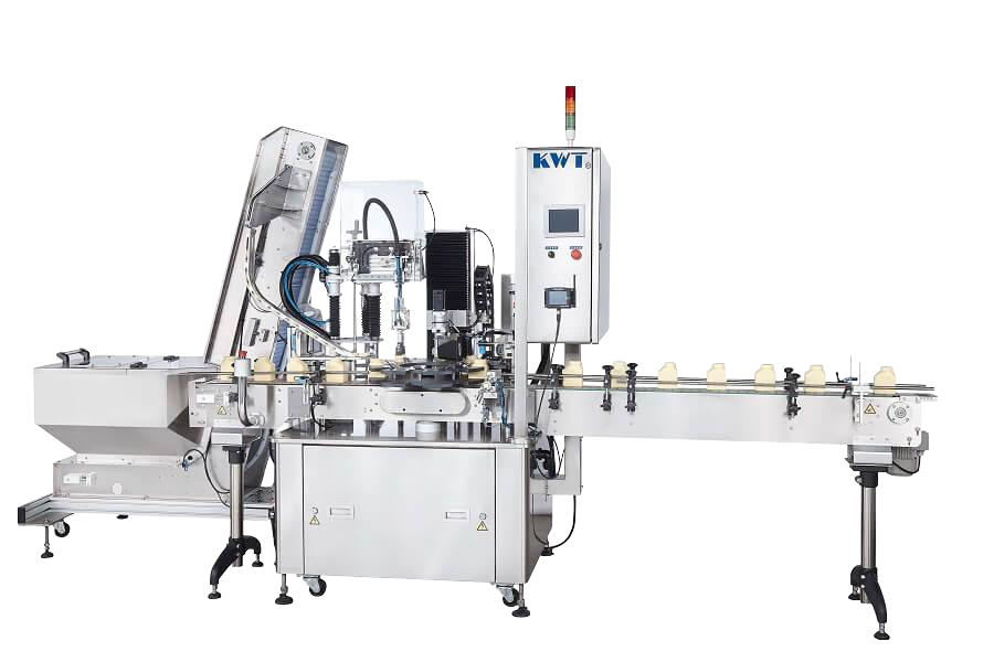 One Head Auto Capper with Waterfall Cap Sorter KWT-180AS